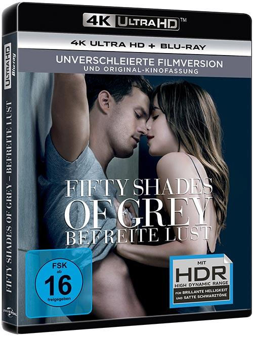 DVD Cover: Fifty Shades of Grey - Befreite Lust - 4K