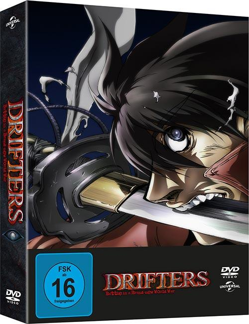 DVD Cover: Drifters - Battle in a Brand-New World War