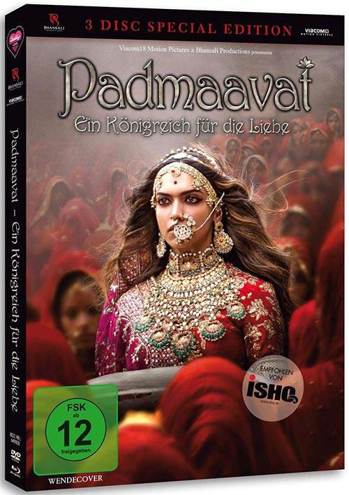 DVD Cover: Padmaavat - 3 Disc Special Edition