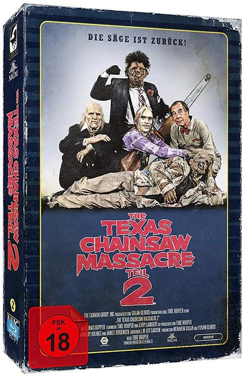 DVD Cover: The Texas Chainsaw Massacre 2 - Limited Collector's Edition im VHS-Design