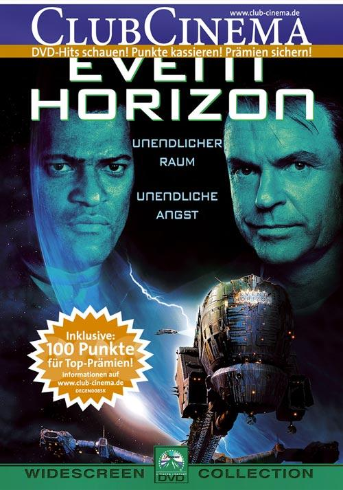 DVD Cover: Event Horizon - Am Rande des Universums