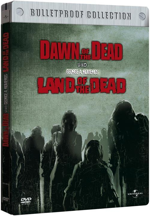 DVD Cover: Land of the Dead / Dawn of the Dead - Bulletproof Collection