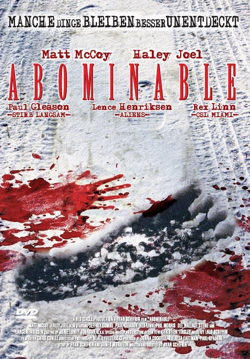 DVD Cover: Abnominable