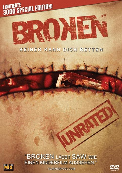 DVD Cover: Broken - Keiner kann Dich retten - Limited Edition Double Feature