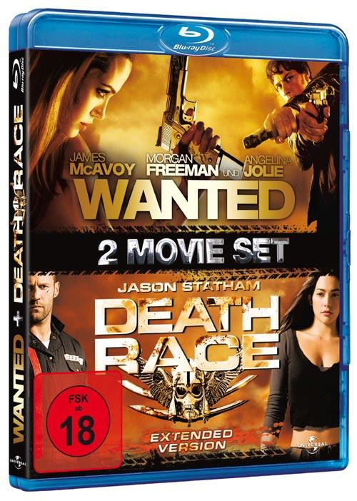 DVD Cover: Wanted - Bestimme dein Schicksal / Death Race