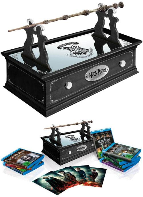 harry potter komplettbox mit zauberstab blu ray bd kaufen. Black Bedroom Furniture Sets. Home Design Ideas
