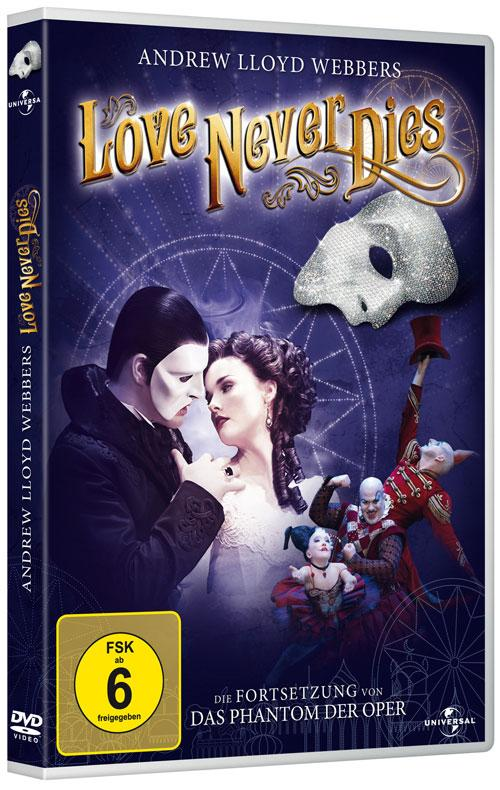 DVD Cover: Andrew Lloyd Webber's Love Never Dies
