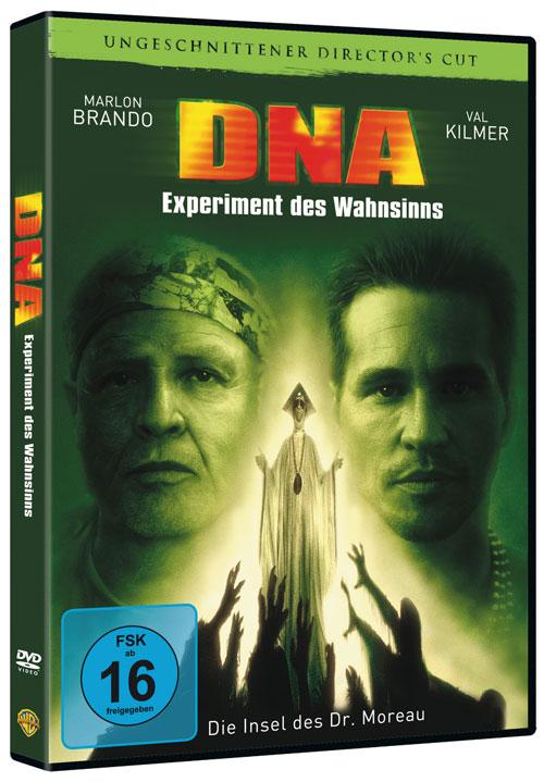 DVD Cover: DNA-Experiment des Wahnsinns - ungeschnittener Director's Cut