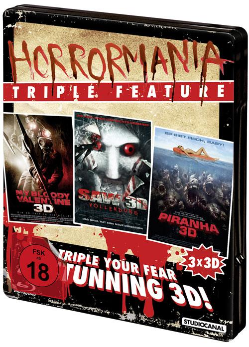 DVD Cover: Horrormania Triple Feature - 3D
