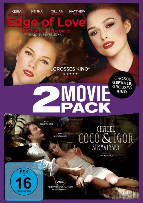 DVD Cover: 2 Movie Pack: Coco Chanel & Igor Stravinsky / Edge of Love - Was von der Liebe bleibt