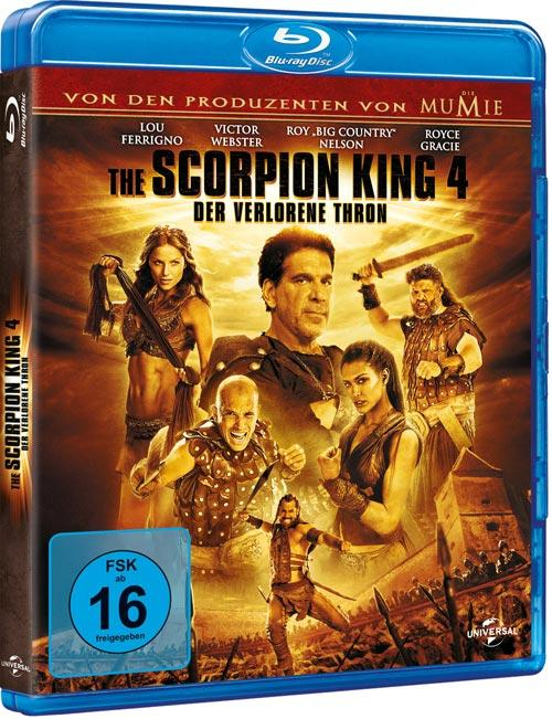 DVD Cover: The Scorpion King 4 - Der verlorene Thron