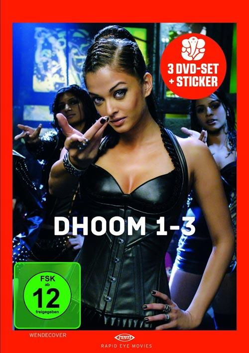 DVD Cover: Dhoom 1-3