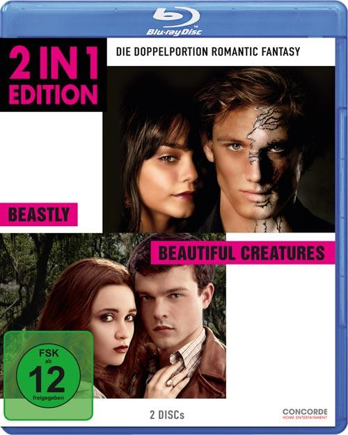 DVD Cover: 2 in 1 Edition: Beastly / Beautiful Creatures
