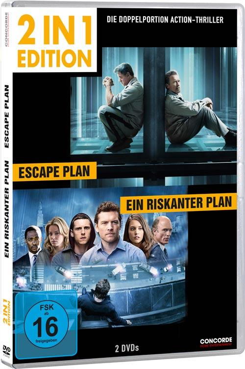 DVD Cover: 2 in 1 Edition: Escape Plan / Ein riskanter Plan