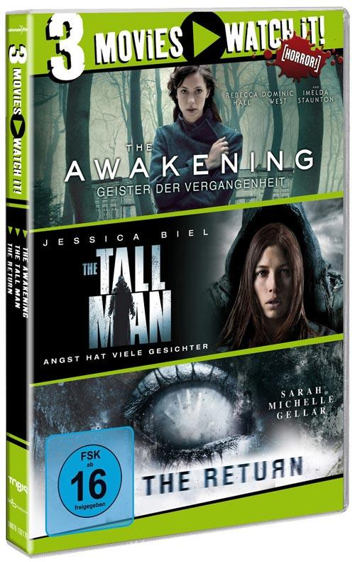 DVD Cover: 3 Movies - watch it: The Awakening / The Tall Man / The Return