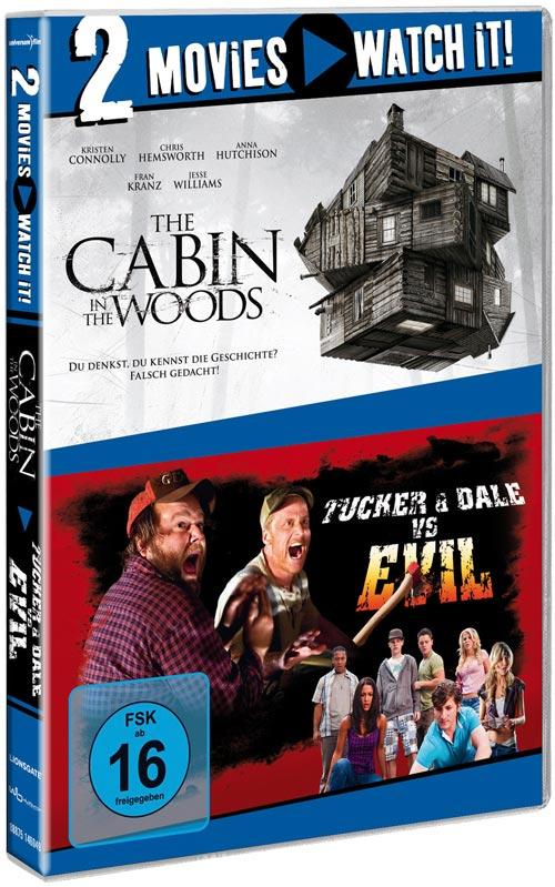 DVD Cover: 2 Movies - watch it: Cabin in the Woods / Tucker & Dale vs. Evil