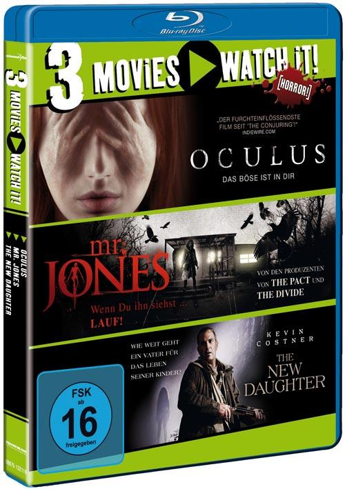 DVD Cover: 3 Movies - watch it: Oculus / Mr. Jones / The New Daughter