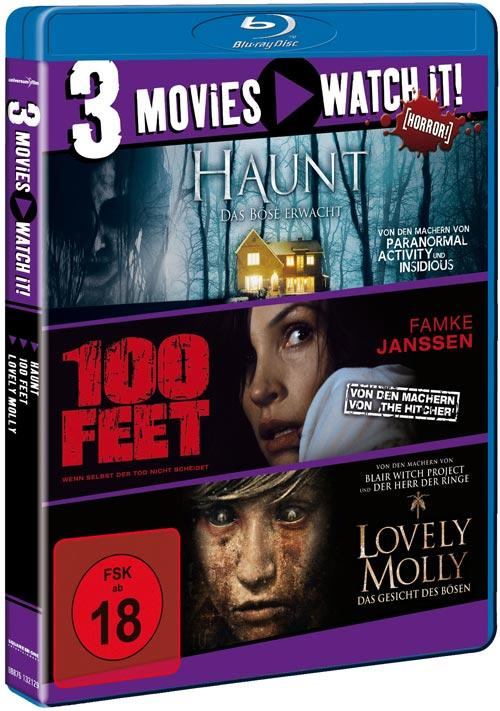 DVD Cover: 3 Movies - watch it: Haunt / 100 Feet / Lovely Molly